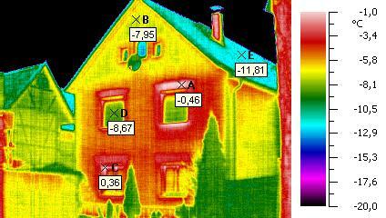 Thermoaufnahme Haus