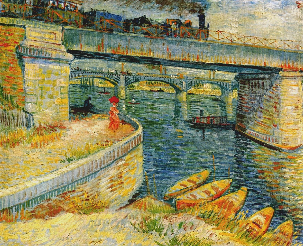 Vincent van Gogh - Bridges across the Seine at Asnieres.jpg