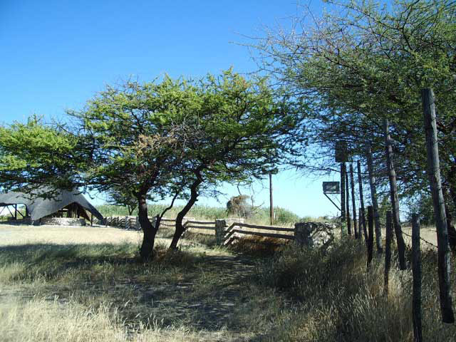File:Watering Hole Viewing Place at Etosha Campsite.jpg