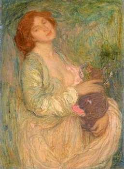 Womanwith vase