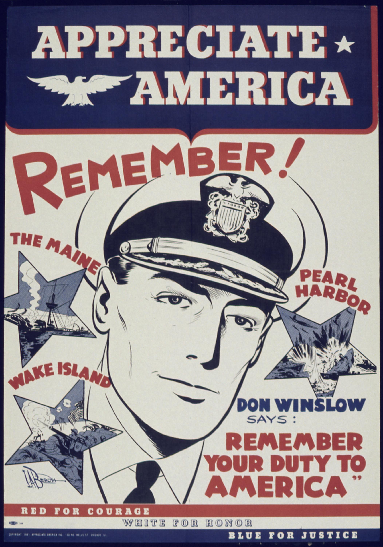 """Remember Pearl Harbor Poster >> File:""""Appreciate America Remember"""" - NARA - 513871.jpg - Wikimedia Commons"""