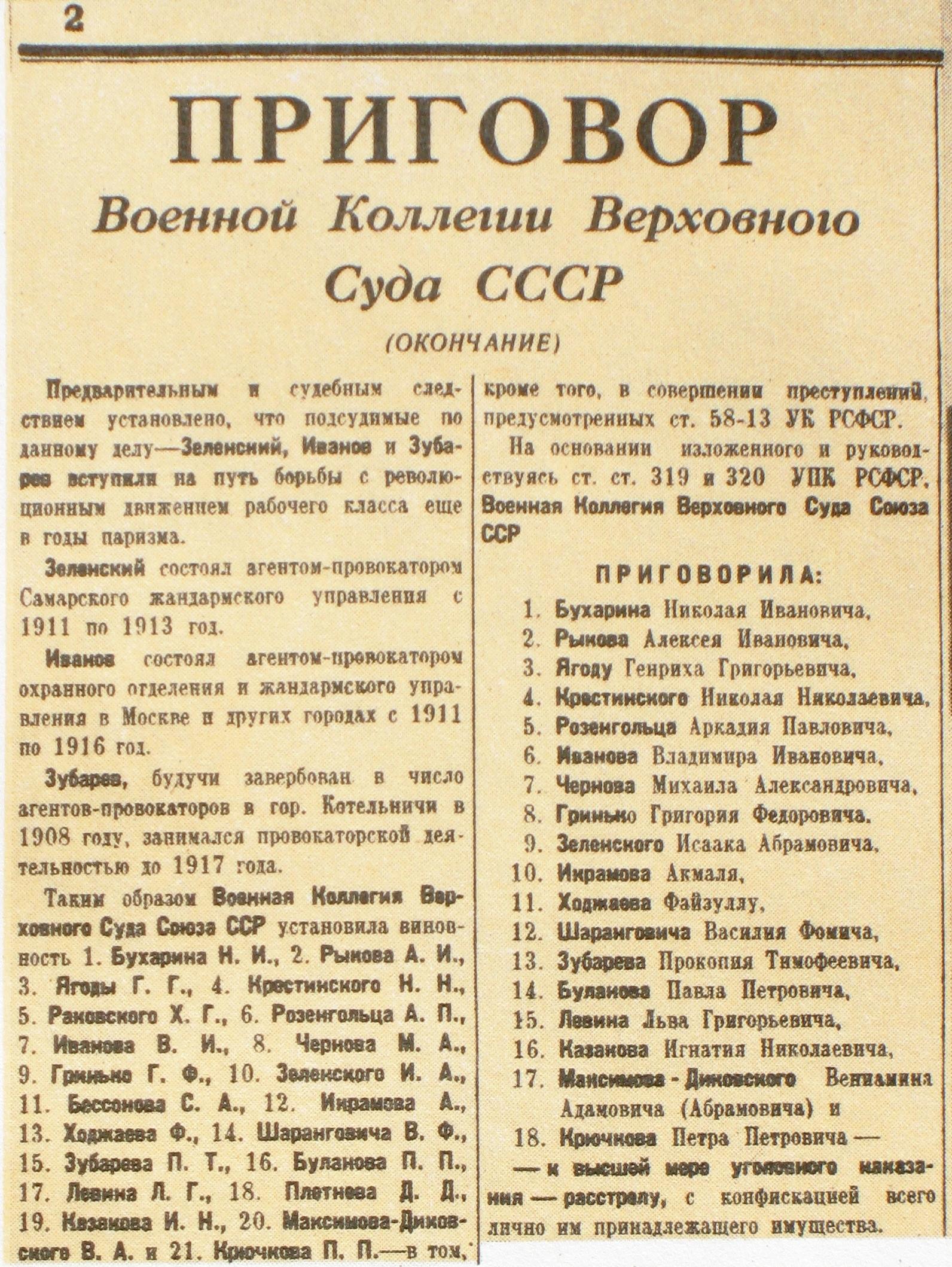 Кровавая ночь 1937