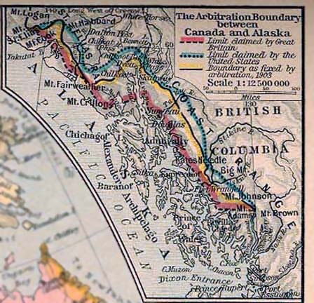the alaska boundary dispute between canada and the united states in 1898 The territorial evolution of canada began when the alaska boundary dispute was resolved the southern border is the canada–united states border or the 49th.