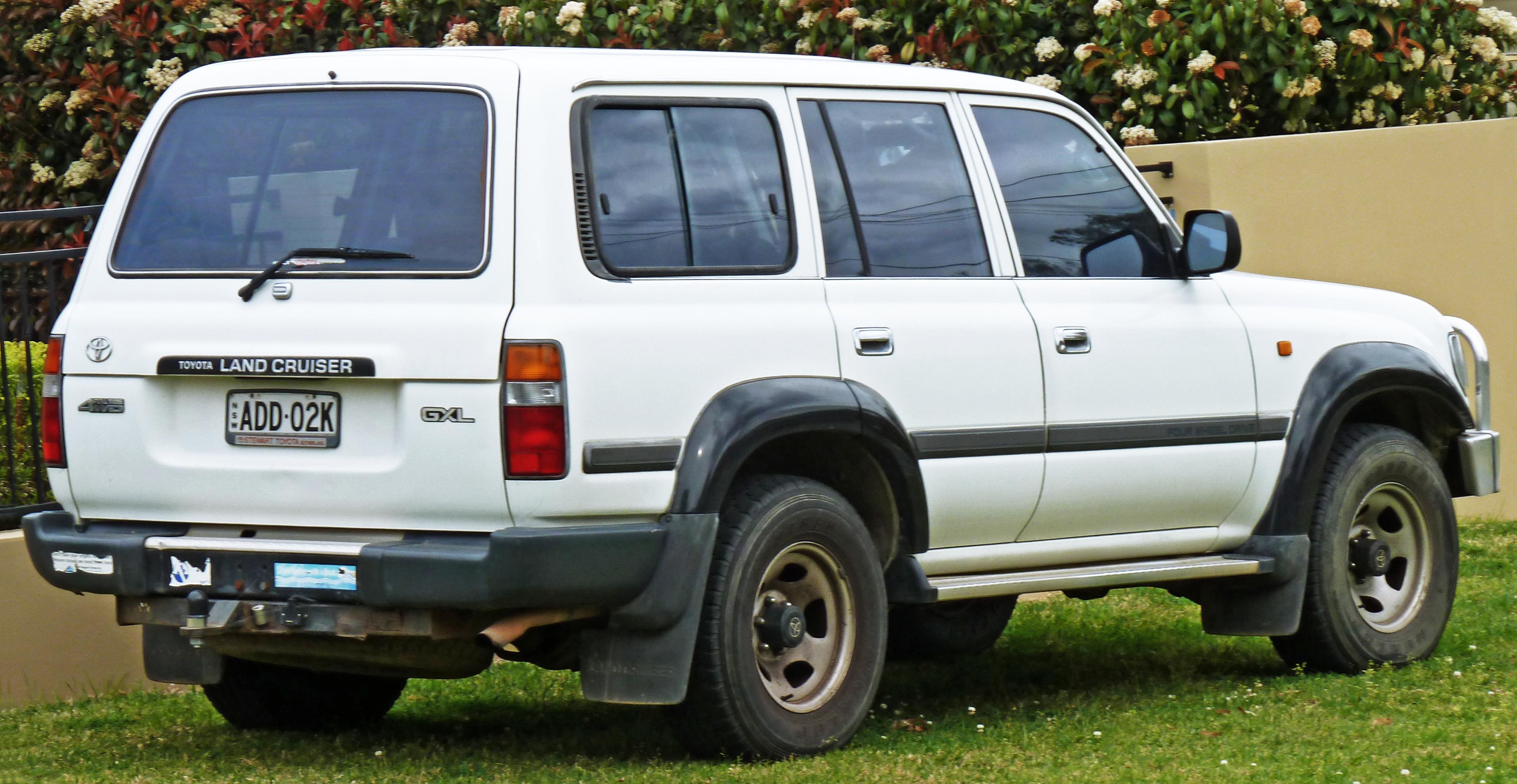 Toyota Land Cruiser Wiki >> File:1995-1998 Toyota Land Cruiser (HZJ80R) GXL wagon (2010-10-01) 02.jpg - Wikimedia Commons