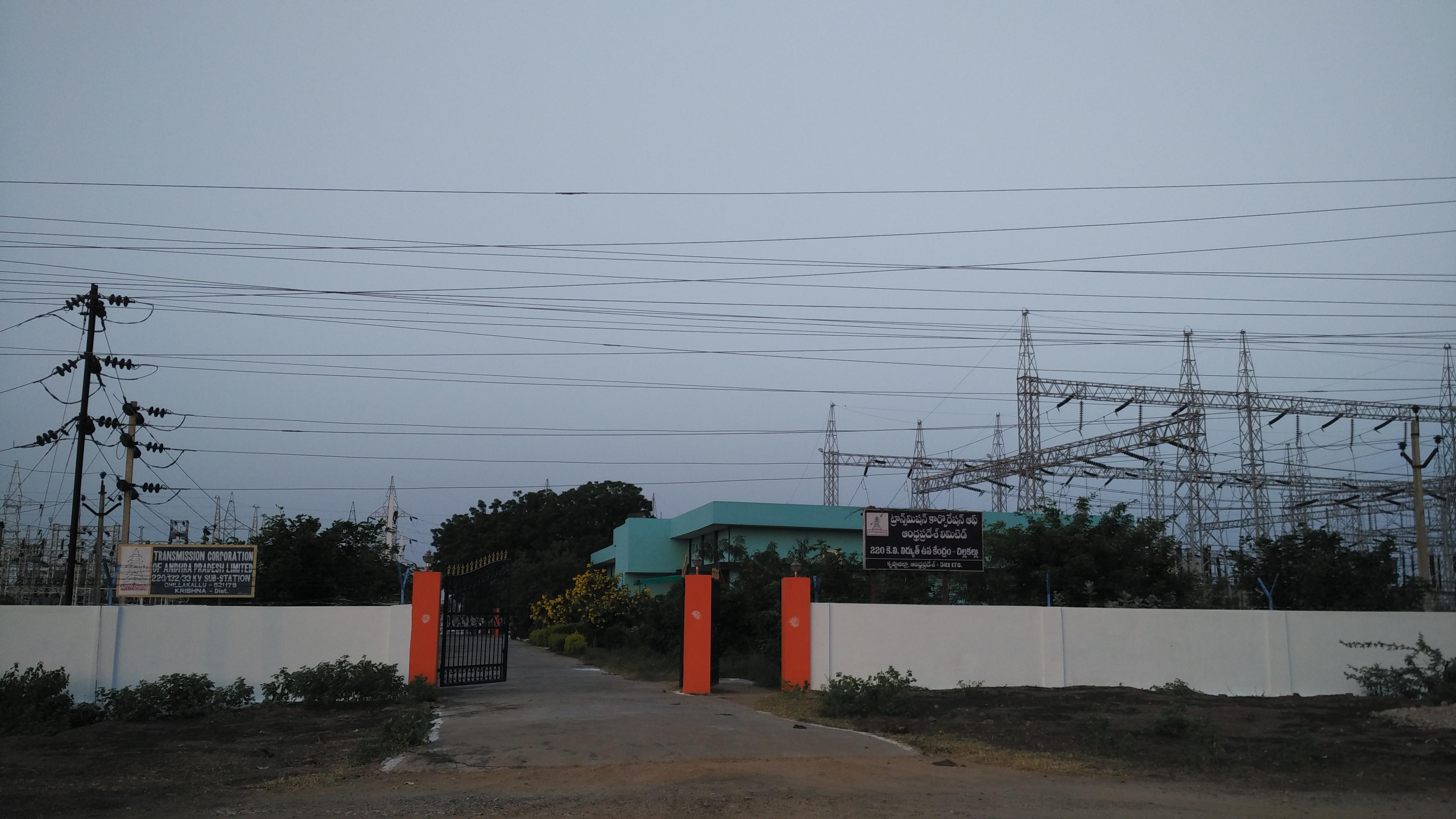 File:220 KV Sub Station at Chillakallu village AP Trans Co