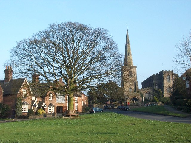 Astbury Church and Green - geograph.org.uk - 22717