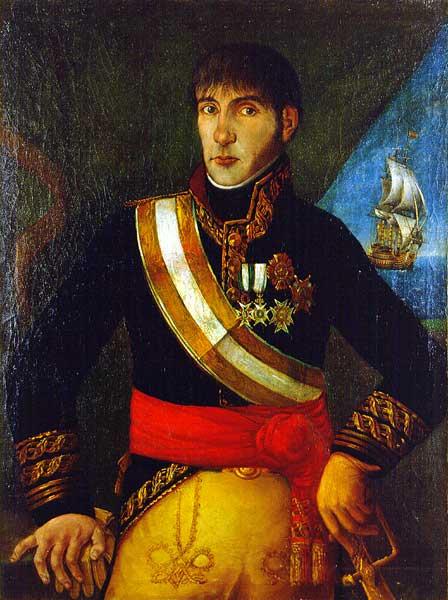 Depiction of Baltasar Hidalgo de Cisneros