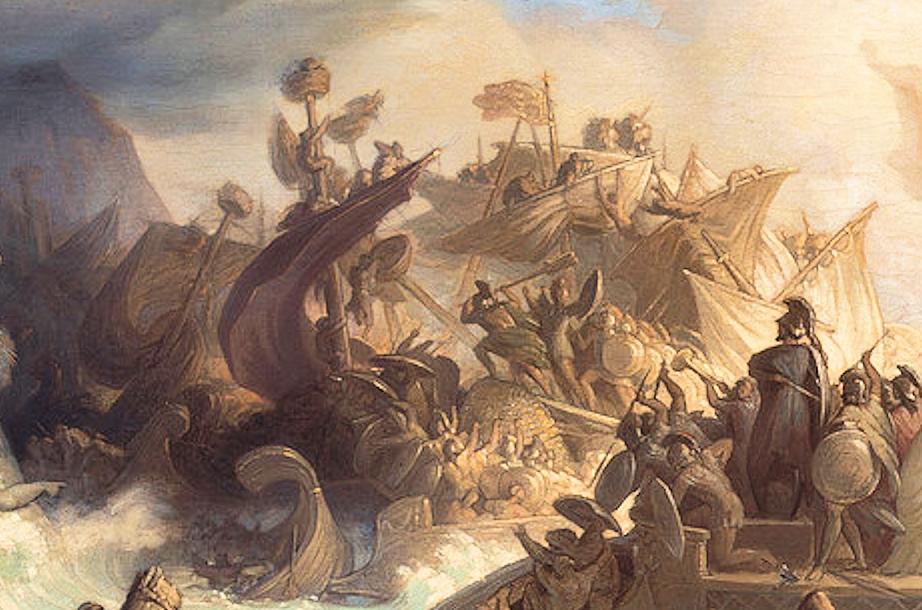 نبرد سالامیس توسط ویلهلم فون کولباخ