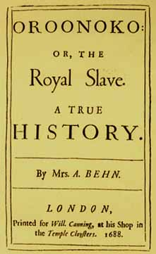 oroonoko novel by aphra behn Oroonoko is a short novel by aphra behn ( 1640 – april 16, 1689), published in 1688, concerning the tragic love of its hero, an enslaved african in surinam in the.