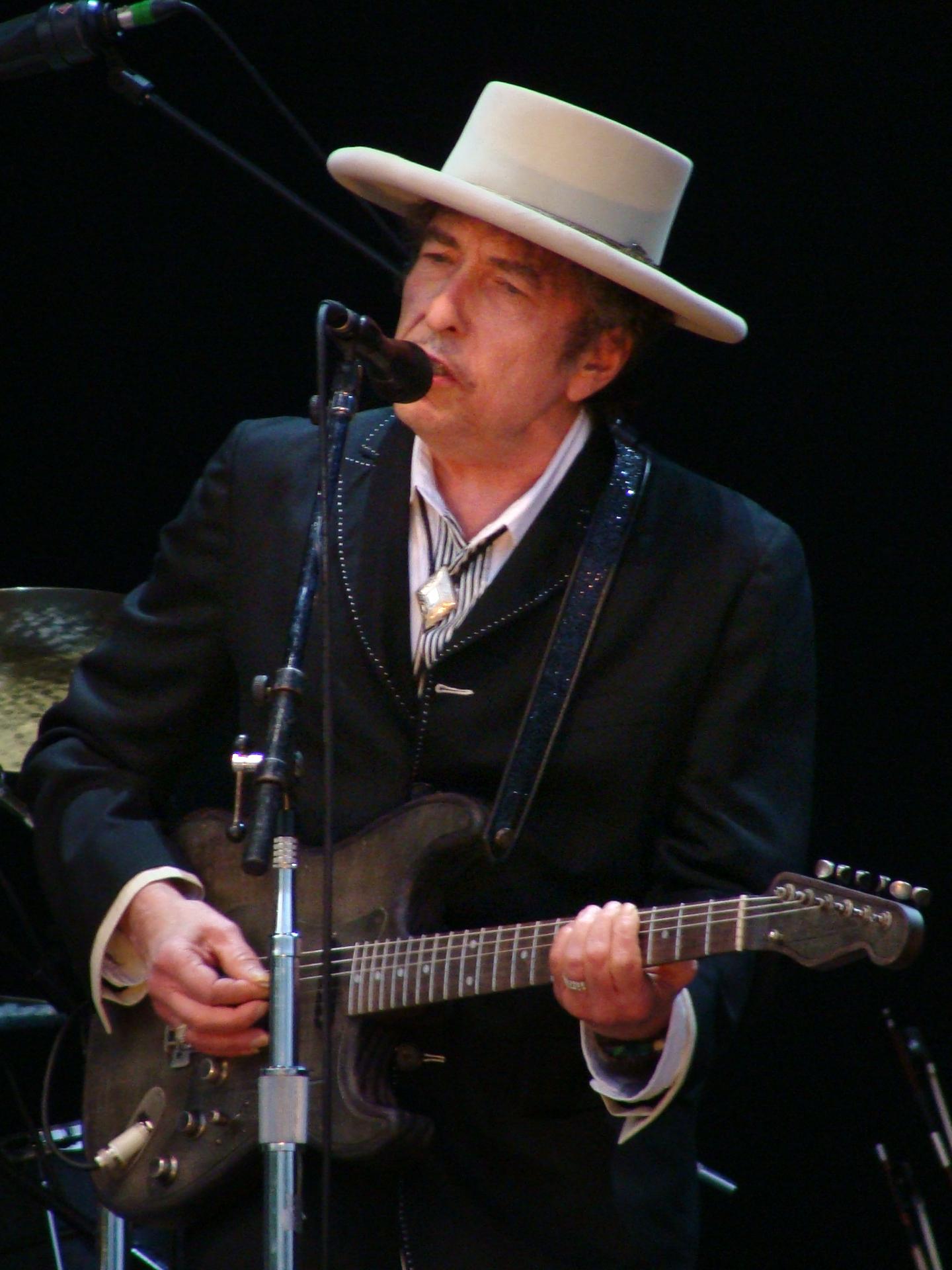 Depiction of Bob Dylan