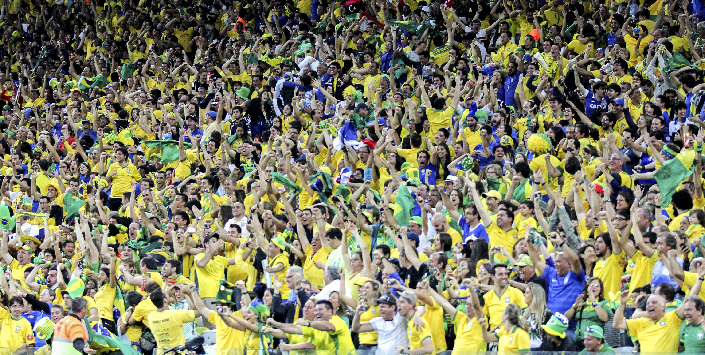 Brazil World Cup Body Paint