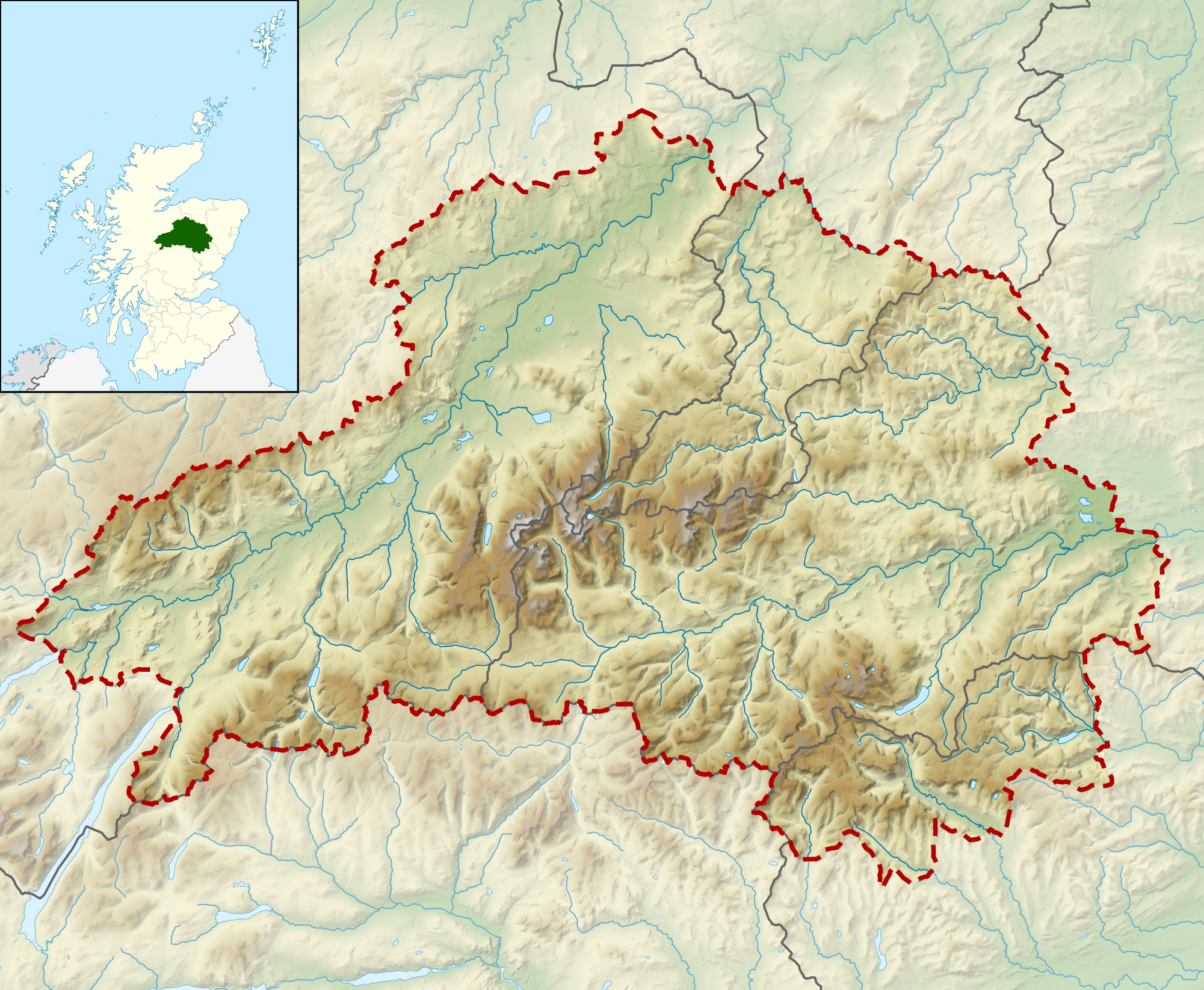 FileCairngorms National Park UK Relief Location Mappng - National parks locations map