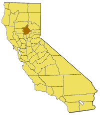 Map of California highlighting Butte County