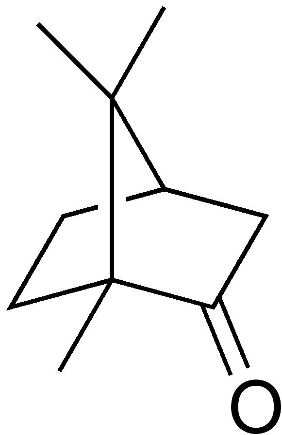 formula di struttura della canfora