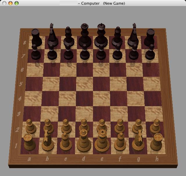 Situazione iniziale di una partita di scacchi.