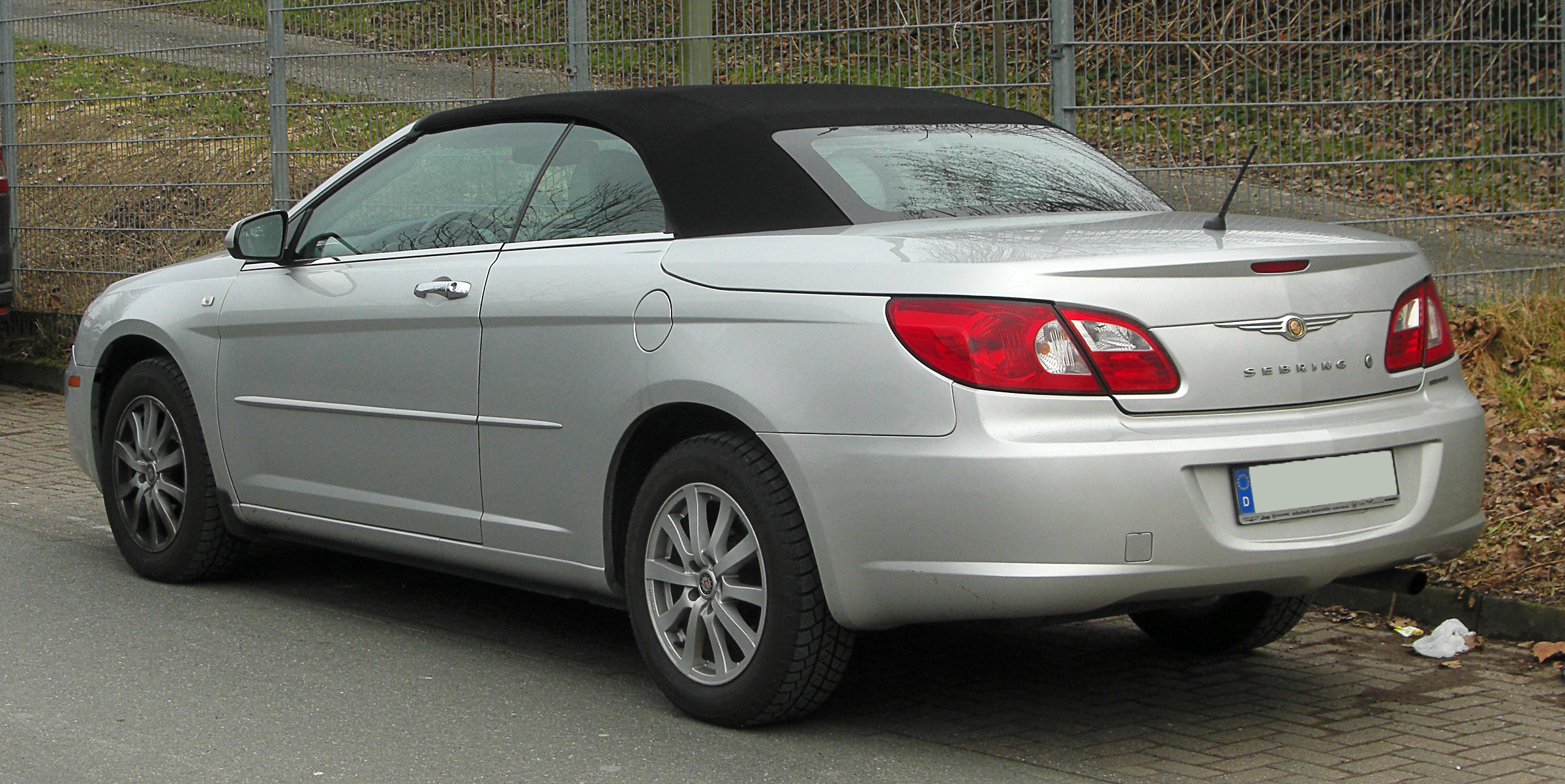 file chrysler sebring cabriolet limited 2 0 crd js heckansicht 20 februar 2011 w lfrath. Black Bedroom Furniture Sets. Home Design Ideas