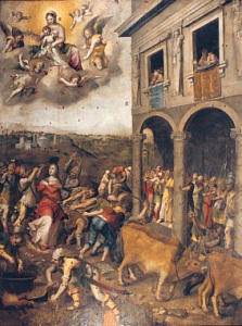 Deodato Guinaccia peinture Martyre de sainte L...