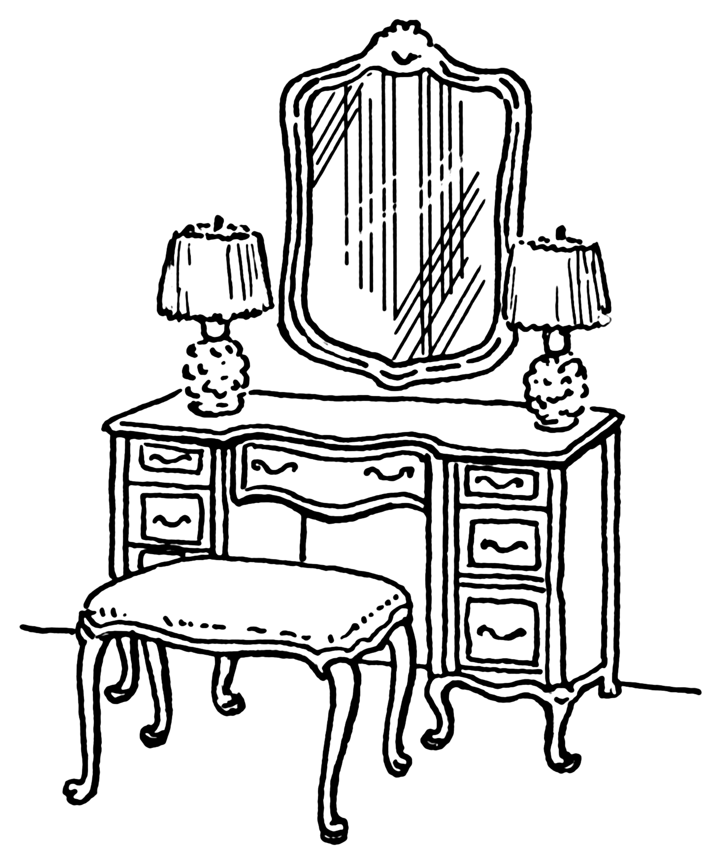 Incredible Dressing Table Clip Art 1474 x 1749 · 5046 kB · png