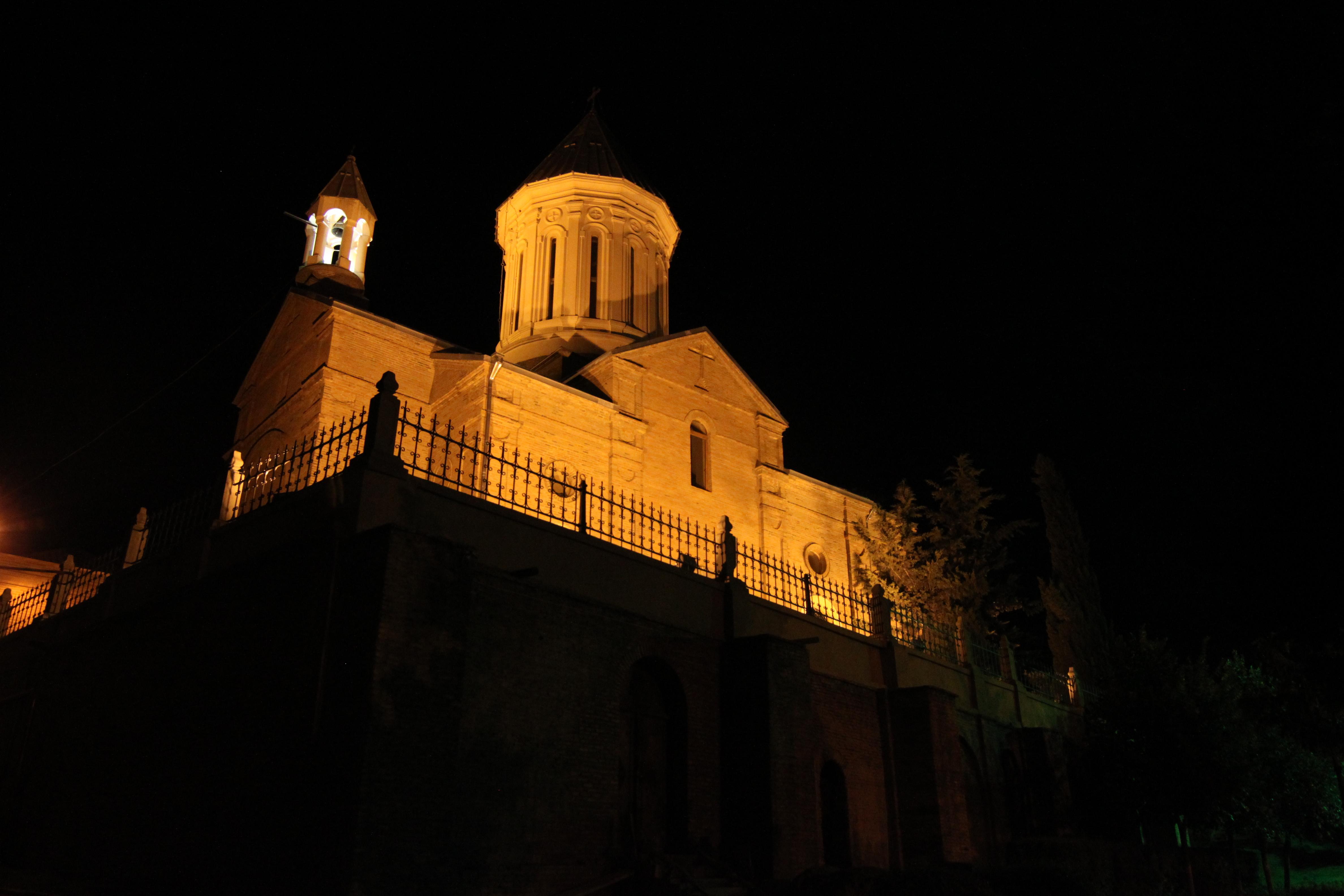 File ejmiatsin church tbilisi lit up at night jpg for Lit wikipedia