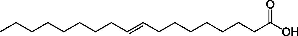 Strukturformel von Elaidinsäure