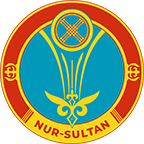 Coat of arms of Nur-Sultan Official emblem of Kazakhstan capital of Nur-Sultan