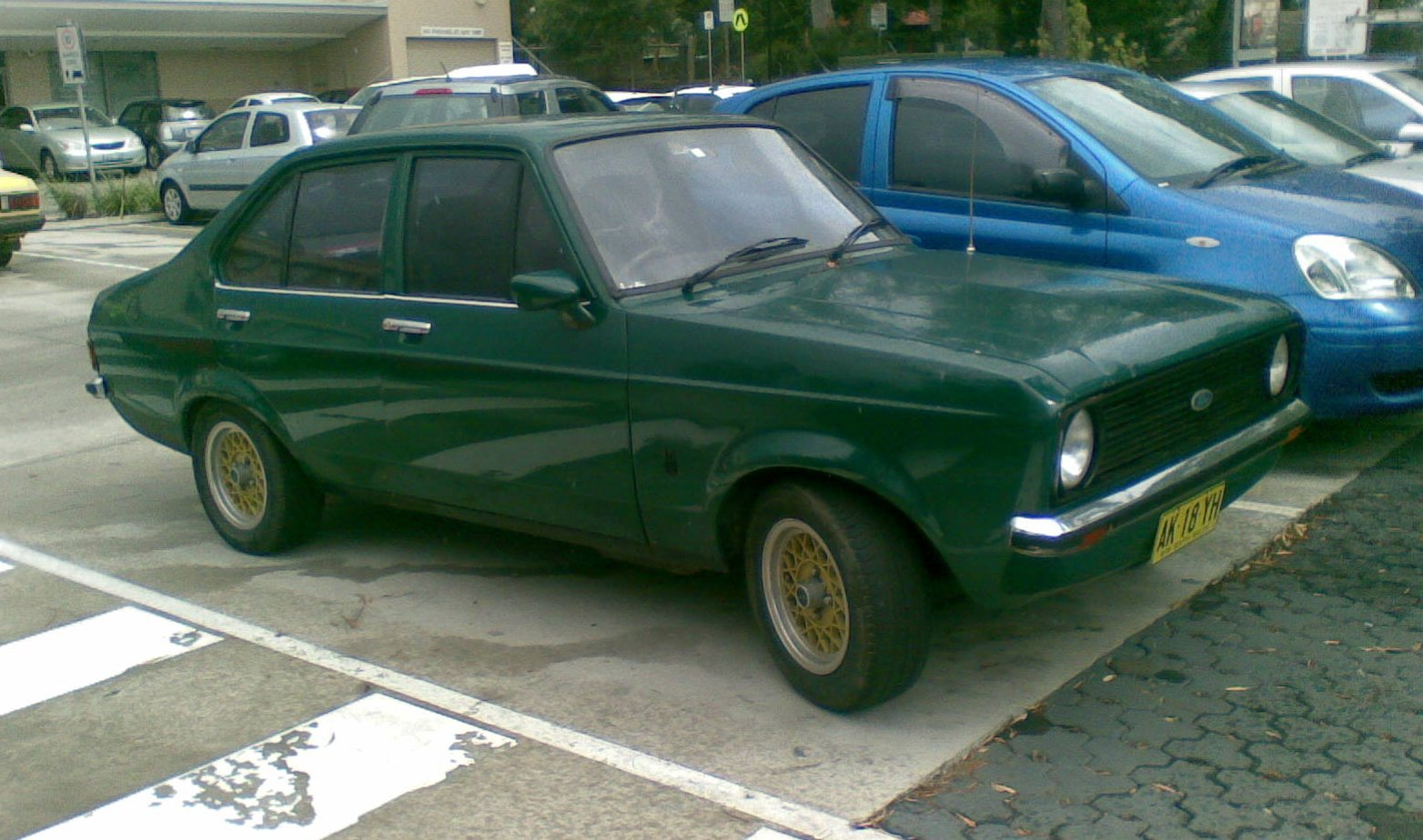 Ford Escort Green Paint
