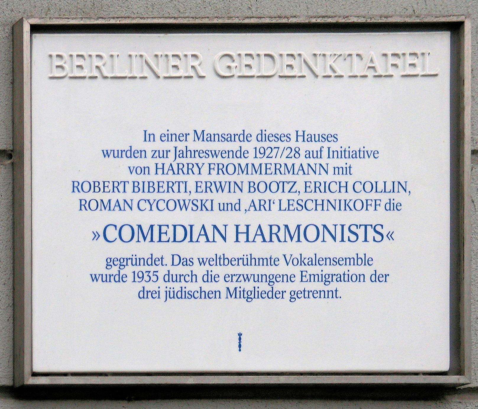 Comedian Harmonists – Wikipedia