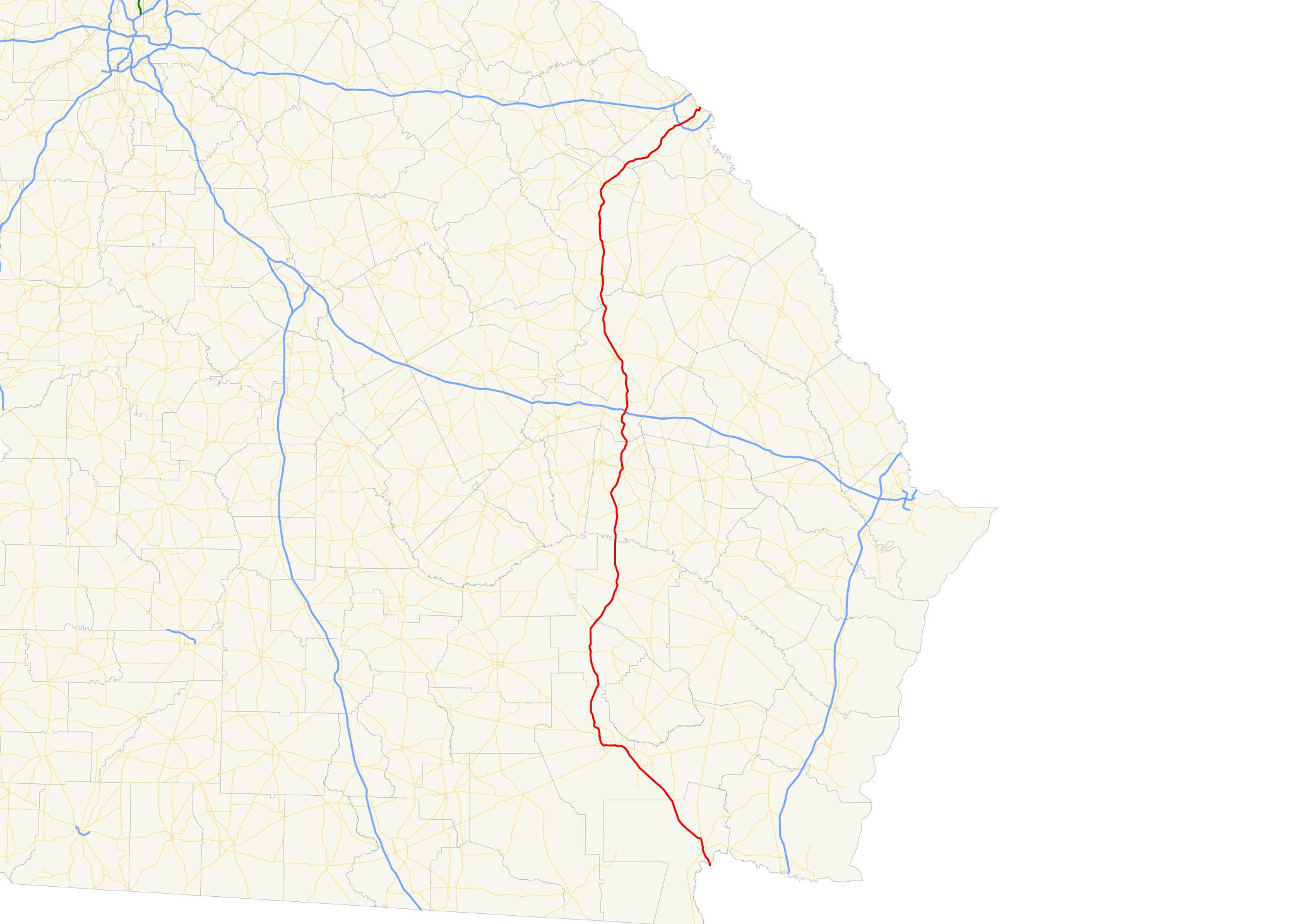 U S Route 1 in Georgia