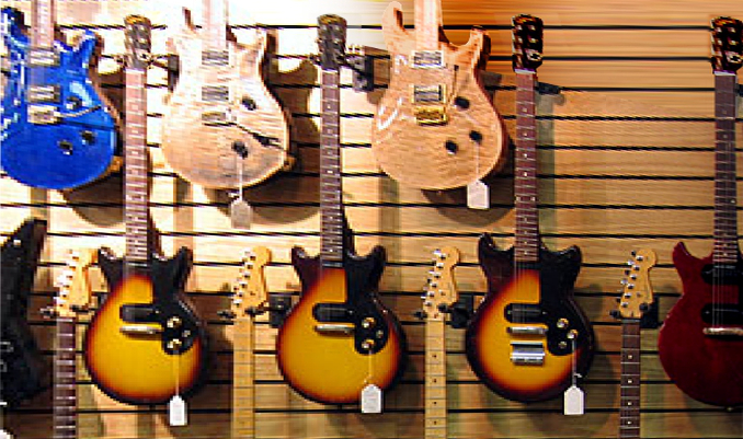File:Gibson Melody Maker DC & 1965 Epiphone Olympic Special.jpg