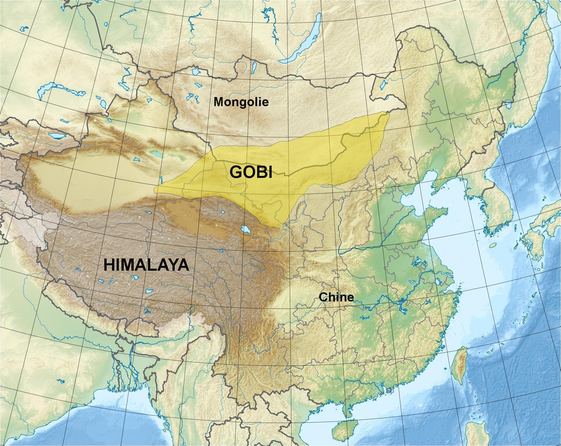 désert de gobi carte File:Gobi desert fr.   Wikimedia Commons