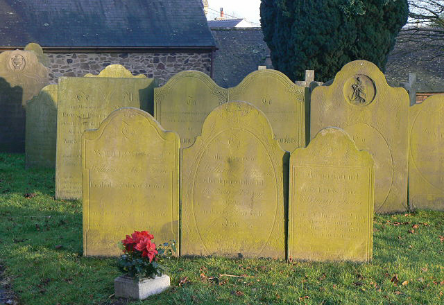 File:Gravestones in Croft churchyard. - geograph.org.uk - 1136410.jpg