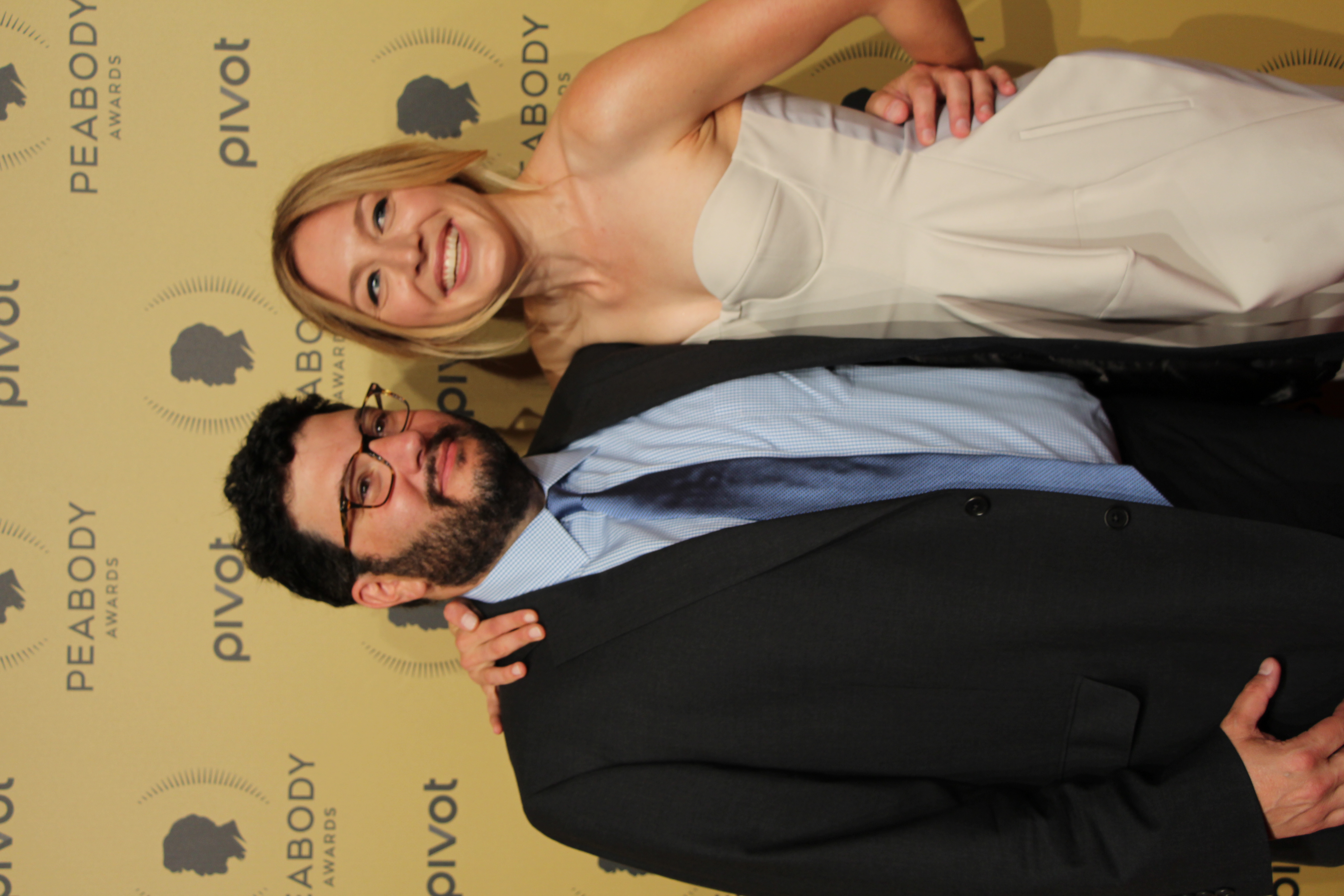 Jack Amiel and [[Juliet Rylance]] in May 2015