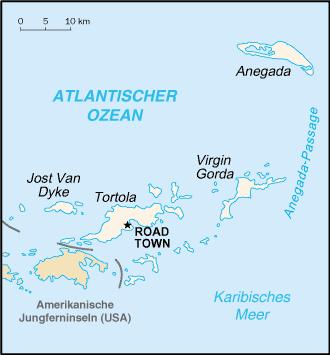 Karte Britische Jungferninseln