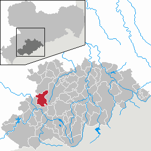 Lößnitz Place in Saxony, Germany