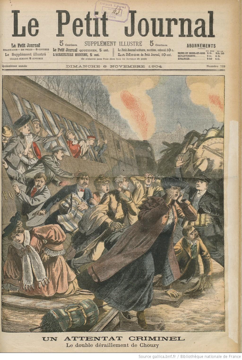 File la catastrophe de chouzy du 21 octobre 1904 caus e par le d boulonnage - Le journal d eyragues ...