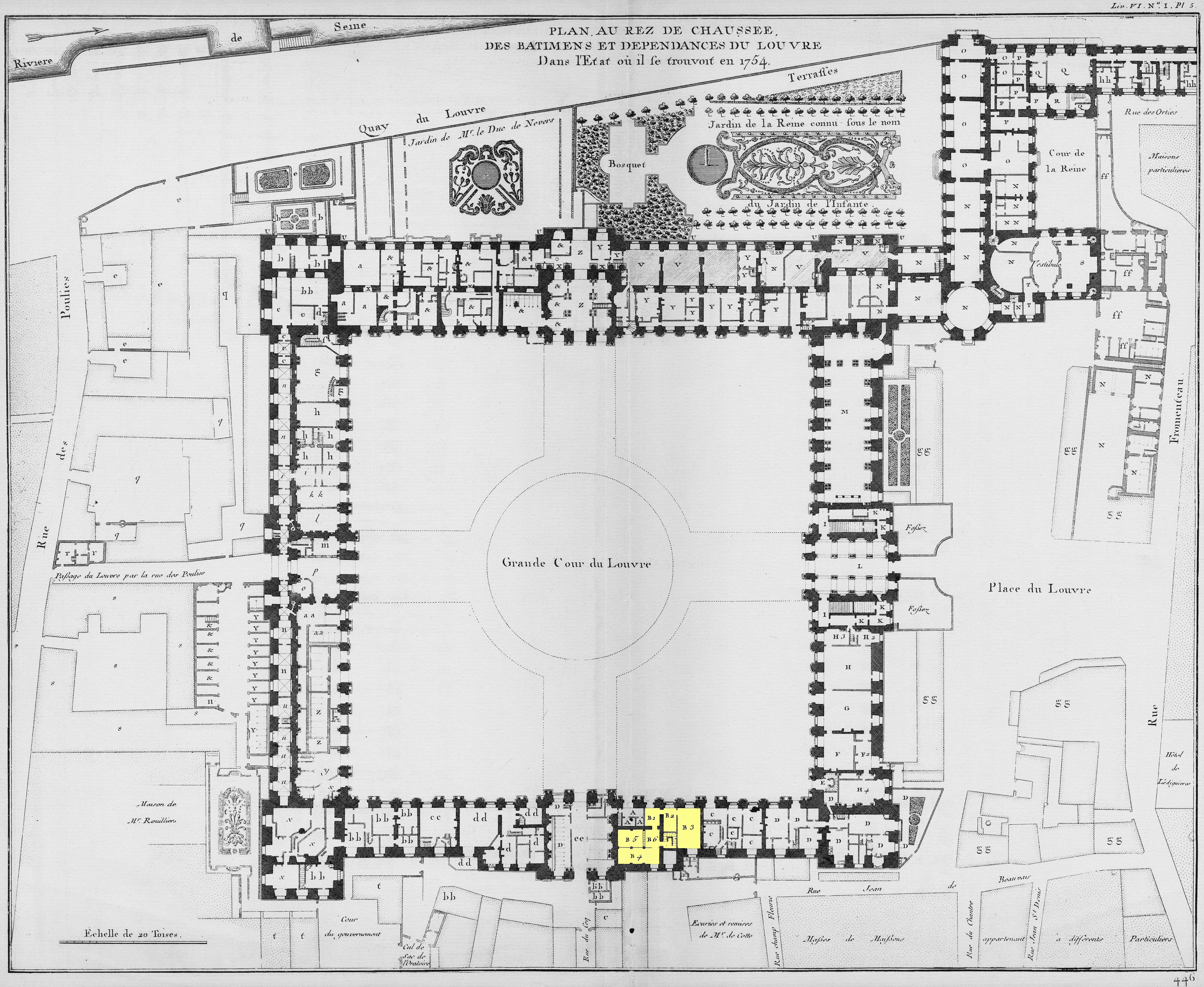 Filelouvre plan au rez de chaussée architecture françoise tome4 livre6