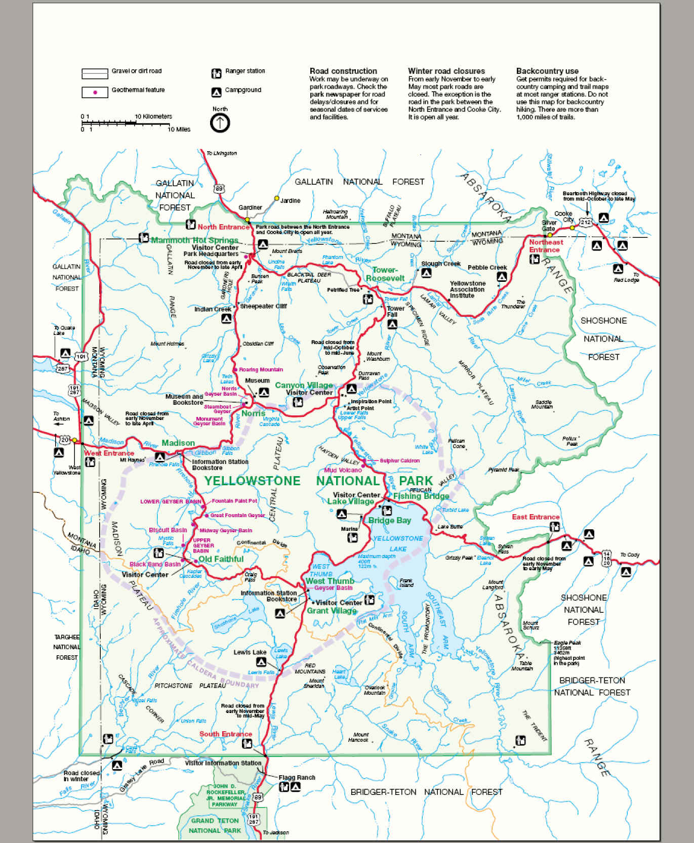 Official park map (2005)
