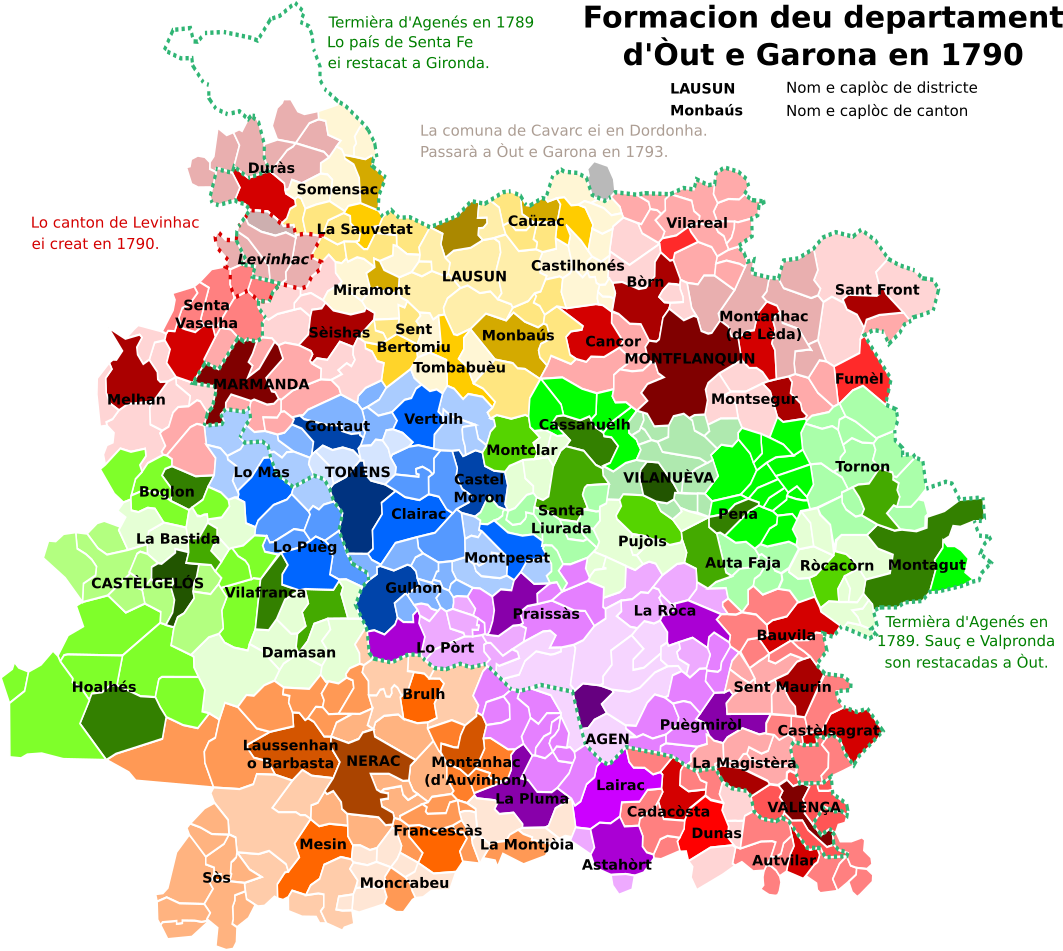 Districts Of France Map.File Map Of Lot Et Garonne Department France With Districts