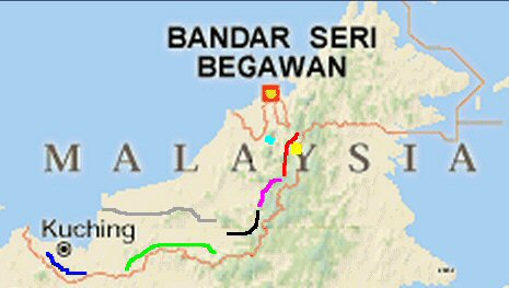 FileMap of a location in Malaysia including Bandar Seri Begawan and