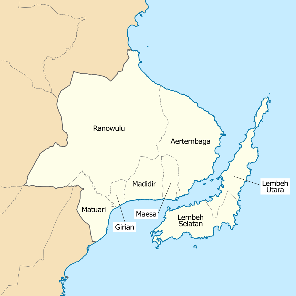 File:Map of sub-districts in Bitung, North Sulawesi