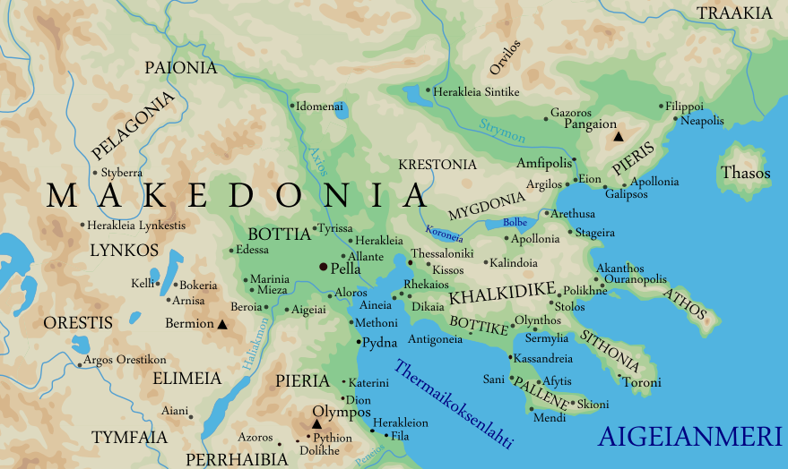 makedonia kartta File:Map of the ancient kingdom of Macedon (Finnish).png  makedonia kartta