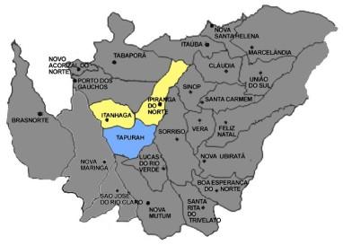 Mapa de Tapurah