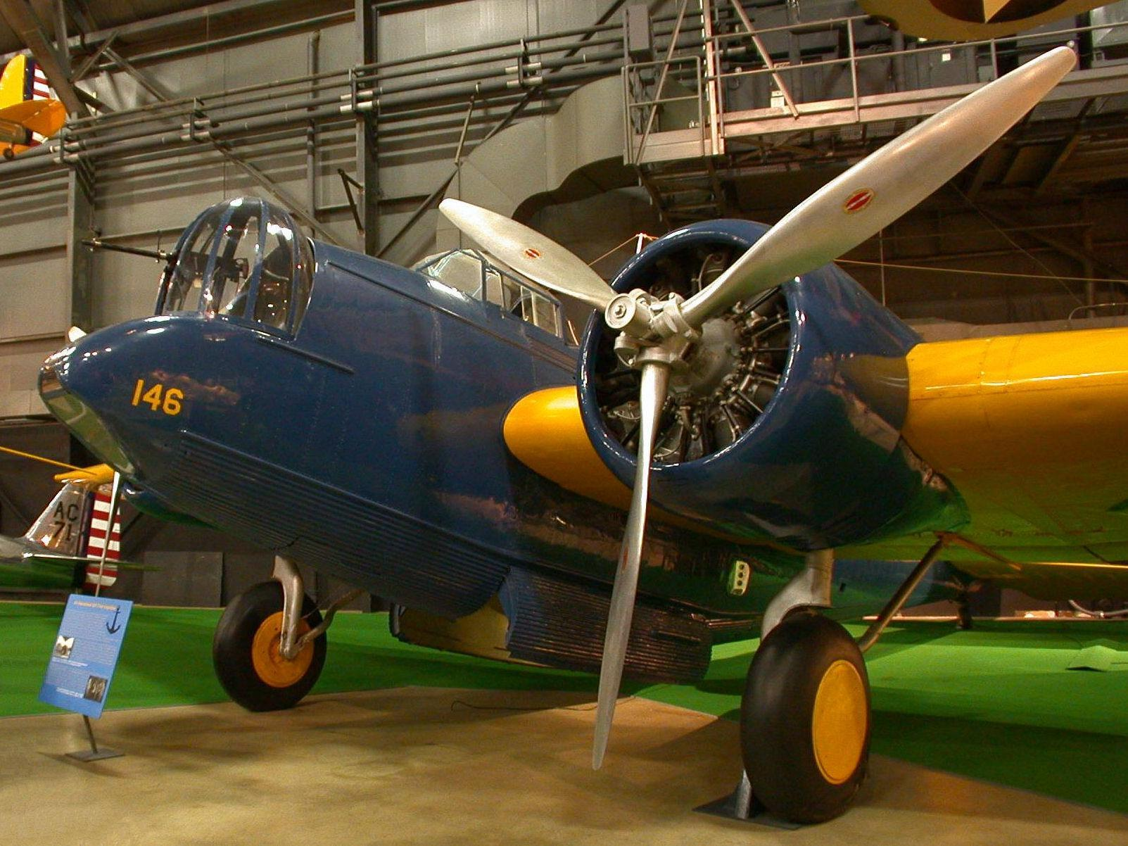 Martin YB-10 on display at the museum