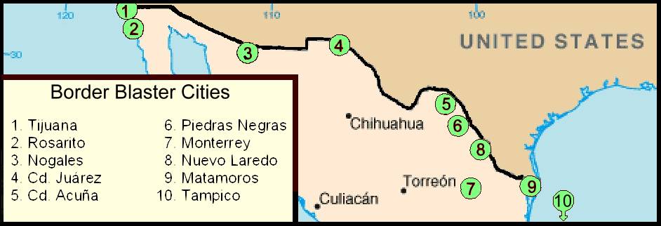 Us Mexico Border Map Cities