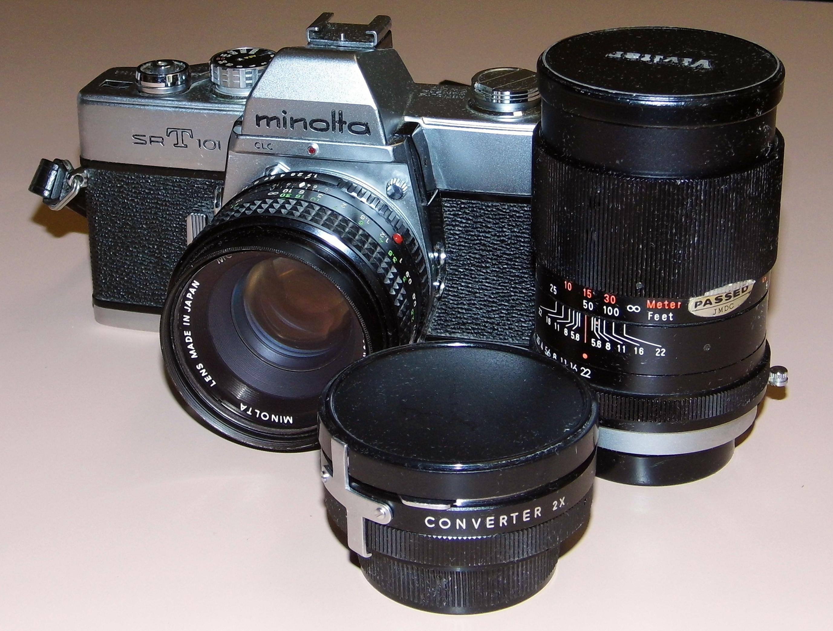 file minolta srt 101 35mm manual focus slr film camera through the rh commons wikimedia org minolta manual lens mount best minolta manual focus lenses
