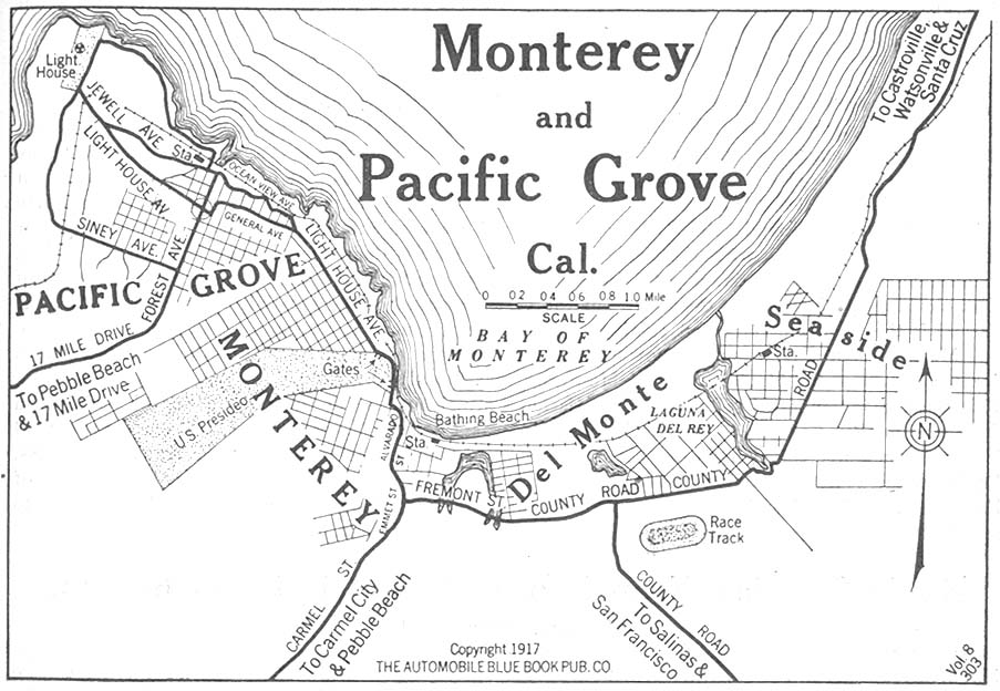 map of pacific grove ca File Monterey Pacific Grove Ca 1917 Jpg Wikimedia Commons map of pacific grove ca
