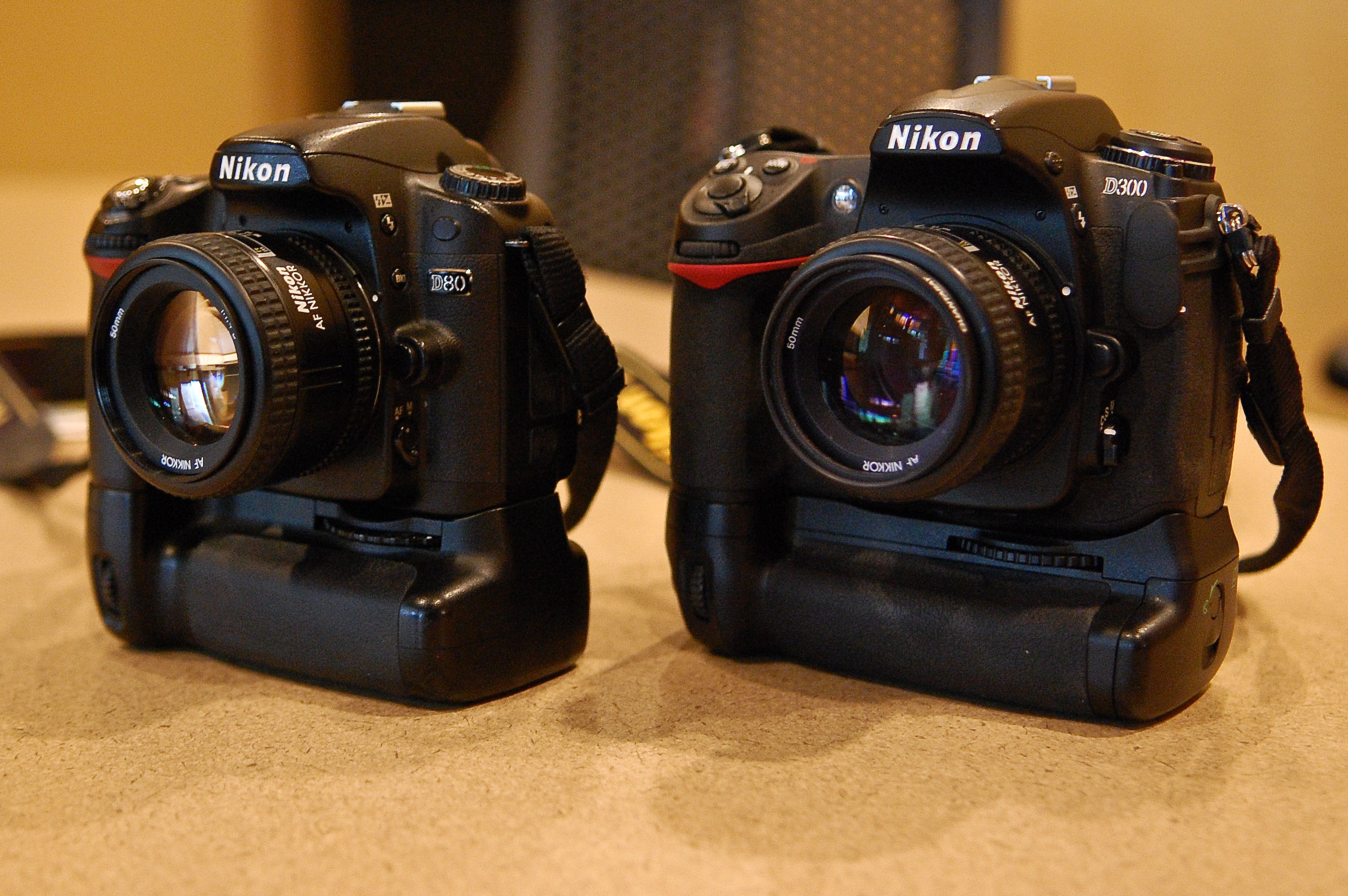 File:Nikon D80 and D300.jpg - Wikimedia Commons