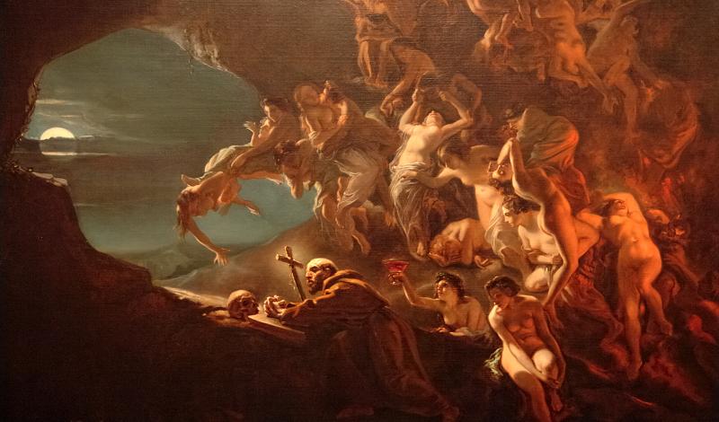 Octave Tassaert - Temptation of Saint Hilarion