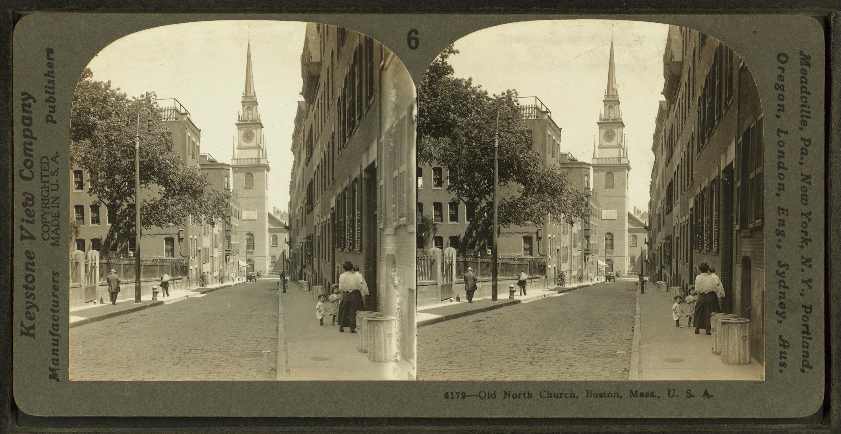 File:Old North Church, Boston, Mass  U S A, by Keystone View