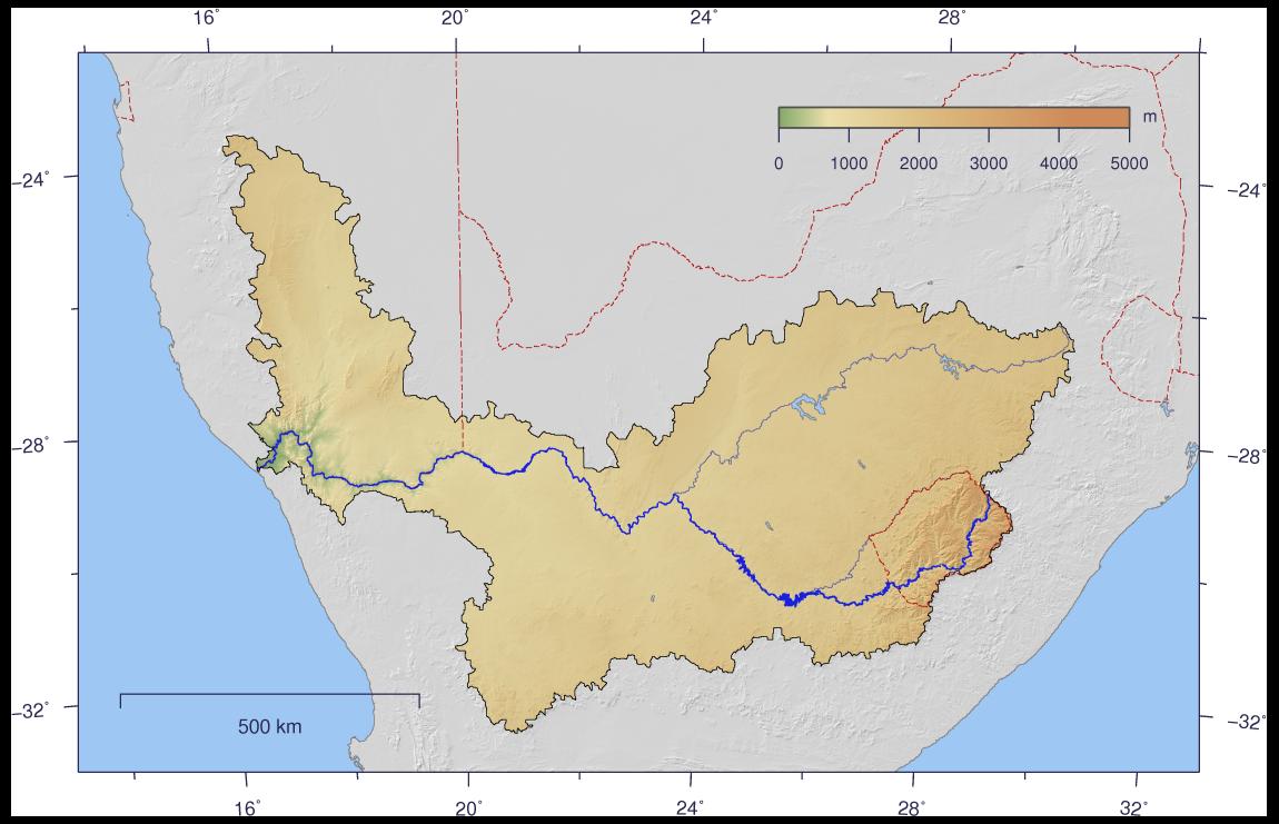 Река оранжевая на юге африки водопад